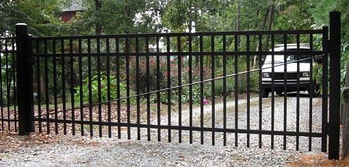 straight flat top driveway gate